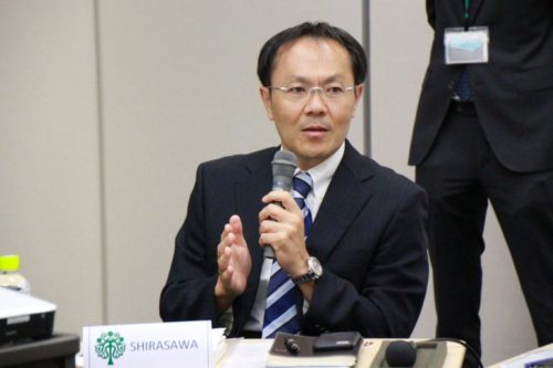 Photograph of Mr. Hiromichi Shirasawa.